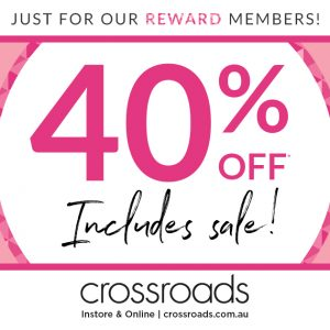 40% OFF STORE WIDE