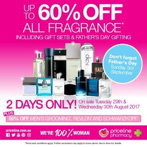 60% off Fragrance Sale