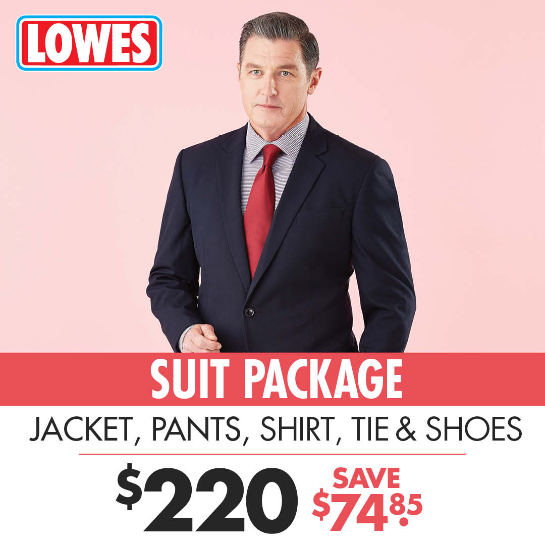 Lowes suit package