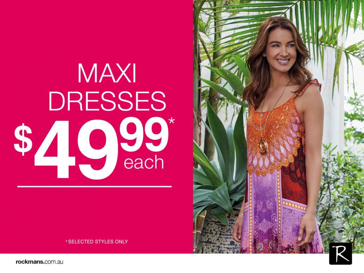 Maxi Dress now $49.99