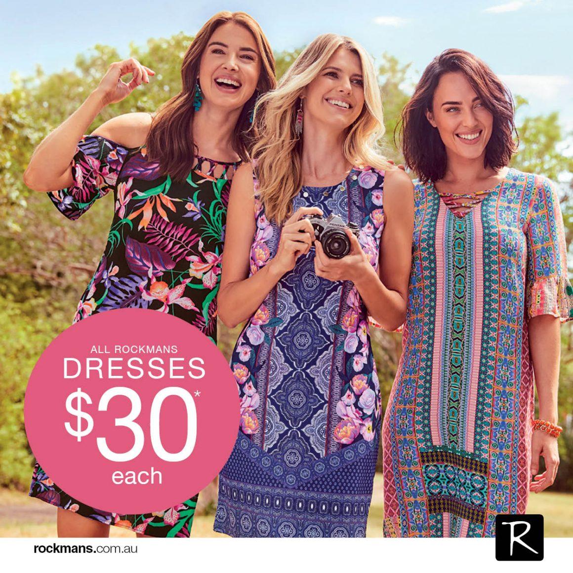 Dresses $30