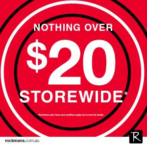 NOTHING OVER…$20