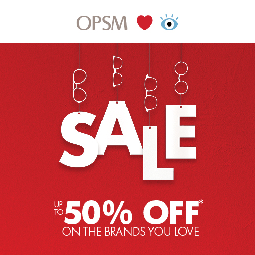 Save up to 50% off selected brands – including Vogue, Oakley and more.