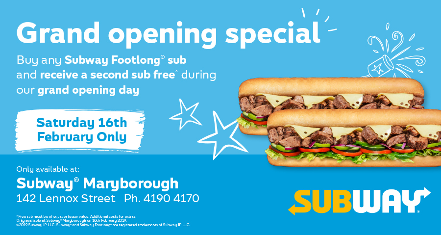 Subway Franchisee Grand Opening Day